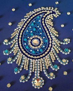 Закончила еще одно задание по курсу тамбурной вышивки от Виктории Бойко…