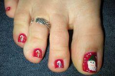 Christmas Toe Nail Art Gallery