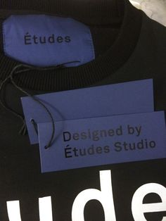 Études Studio  Hang tag + Garment Label