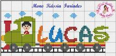 Cross Stitch Letters, Cross Stitch For Kids, Cross Stitch Baby, Knitting Paterns, Baby Knitting, Embroidery Letters, Embroidery Stitches, Loom Patterns, Stitch Patterns