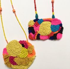 Colourful hand embroidered and beaded by FlirtingwithYellow
