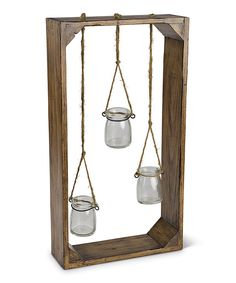 I've been saving my cats insulin bottles, this might be a cute thing to do with them. ~~Look at this Hanging Jar Wall Garden Décor on #zulily today!