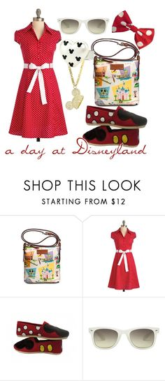 """A Day at Disneyland"" by princesschandler ❤ liked on Polyvore featuring Disney Couture, Dooney & Bourke, Miz Mooz, Monki and plus size dresses"