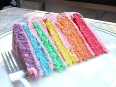 Rainbow cake is the cure for depression.