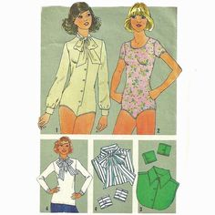 Simplicity 7681 1970s Misses  Dickies Cuffs and Bodysuit vintage sewing pattern  by mbchills
