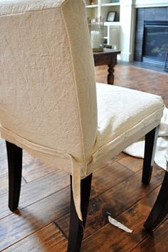 Amazing tutorial for slip covers.....b/c the destroyer cut our seats with her scissors (: