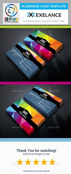 Exelance Business Card - Business Card Template PSD #design Download: http://graphicriver.net/item/exelance-business-card-business-card-template/14280913?ref=ksioks