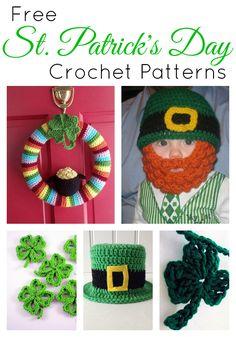 Free St Patrick's Day Crochet Patterns #crochet #pattern #green