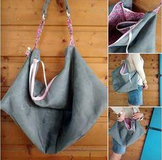 Le premier Swing de L'AnaNas ! Un Swing en suédine gris et rose pour un sac tout en douceur. L'AnaNas est licenciée Sacôtin, faites lui signe si vous voulez un Swing