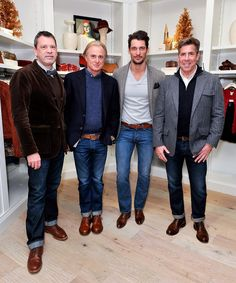 David Gandy Photos Photos - (L-R) Michael Neumann, Dave DeMattei, David Gandy, and Patrick Wade attend the opening of Lucky Brand's new flagship store at the Time Warner Center on December 5, 2012 in New York City. - Lucky Brand And Vogue Celebrate California Culture and Style