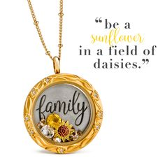 Origami Owl Spring 2017: Look at this new Origami Owl floral face in GOLD! Gorgeous!