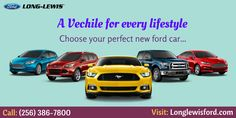 Are you looking to buy new ford cars in Alabama? LONG-LEWIS is happy to help you select the best ford vehicle that best fits your lifestyle. For more information, Call: (256) 386-7800