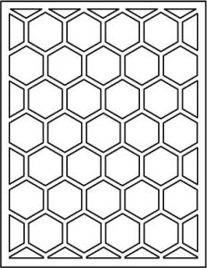 Papertrey Ink - Cover Plate: Hexagon Die