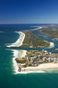 Coolangatta, Queensland (and Tweed Heads, New South Wales), Australia - aerial
