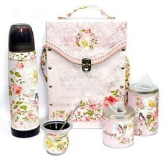 Set Matero Completo Pajarito Rosa Yerba Mate, Drinking Tea, Fashion Backpack, Bambi, Camping, Metal, Design, Kids, Leather
