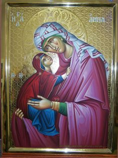 Saint Anna with her daughter the Virgin Mary