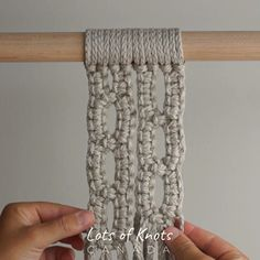Super Awesome Geometric Pattern Using Square Knots! ✨ I know how much you guys love geometric patterns so here's another one for you 😁 I'm VERY tempted to make large wall hanging just using this design 😍 …the only thing holding me back Macrame Design, Macrame Art, Macrame Projects, Macrame Supplies, Macrame Wall Hanging Patterns, Macrame Patterns, Art Macramé, Macrame Curtain, Geometric Patterns