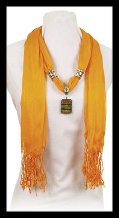 Scarf and Necklace all in one, garden girl bling,Or bling for any girl!