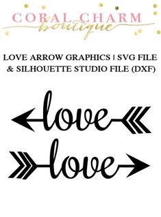 Love Arrow Files for Cutting Machines | SVG and Silhouette Studio (DXF)