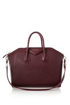 Givenchy Medium Antigona bag in burgundy textured-leather NET-A-PORTER.COM