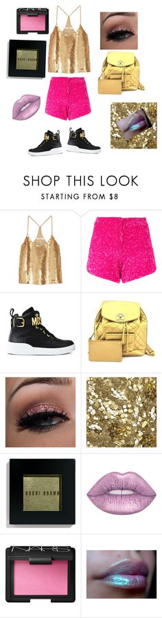 """""""Glitter concert"""" by ingrid-zhou ❤ liked on Polyvore featuring TIBI, Manish Arora, Moschino, Chanel, Burberry, Bobbi Brown Cosmetics, Lime Crime and NARS Cosmetics"""