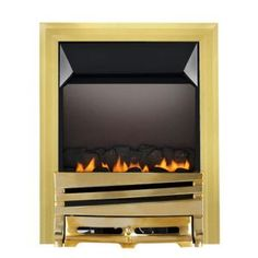 Focal Point Horizon Flue Less Brass Manual Control Inset Gas Fire Flueless Gas Fires, Manual, Brass, Pure Products, Room, Diy, Home Decor, Bedroom, Decoration Home