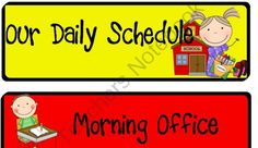 School Kids Schedule Labels from Worker Bees on TeachersNotebook.com (9 pages)