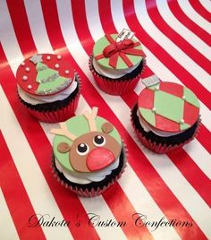 Christmas cupcakes for my children's teachers Cake by Dakota's Custom Confections