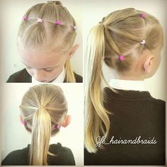 Easy hairstyles for little girls - New Hair Styles ideas Girls Hairdos, Lil Girl Hairstyles, Princess Hairstyles, Hairstyles For School, Pretty Hairstyles, Easy Hairstyles, Toddler Hairstyles, Formal Hairstyles, Teenage Hairstyles