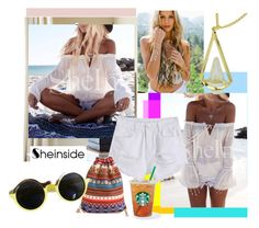 """sheinside9"" by ajsajunuzovic ❤ liked on Polyvore featuring John-Richard, Lulu DK and Sheinside"
