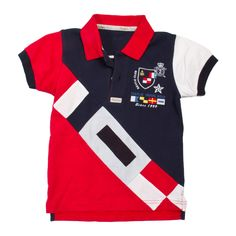 Polo niño banderas naúticas marino Polo Rugby Shirt, Polo T Shirts, Cool Shirts, Camisa Polo, Toddler Boy Outfits, Kids Outfits, Moda Junior, Baby Polo, T Shirt Time