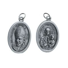 Pope John Paul II / Our Lady of Czestochowa Medal, 25 medals per pack. #CatholicCompany