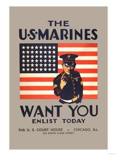 Vintage marine posters - reception decoration idea