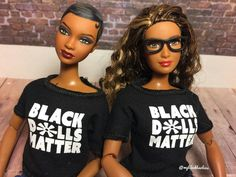 Photo from @myblackbarbies on instagram wearing a black dolls matter doll t-shirt from @blackdollsmatter who has a tumblr page so you guys go check @blackdollsmatter at and buy some t-shirts from them.