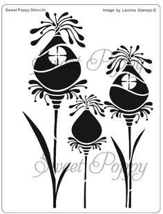 Sweet Poppy Stencil: Fairy Pods