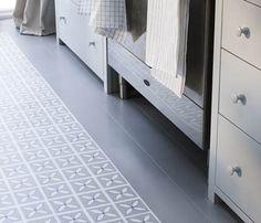 Lattice Pebble Grey – Flooring design by Dee Hardwicke for Harvey Maria Vinyl Flooring Uk, Luxury Vinyl Flooring, Terrazzo Flooring, Brick Flooring, Luxury Vinyl Tile, Vinyl Tiles, Grey Flooring, Kitchen Flooring, Flooring Ideas