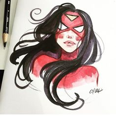@carlawyzgala does an awesome #spiderwoman #sketch for @freecomicbookday 2016! #art #drawing #artist #illustration #manga #draw #artwork #anime #original #sketchbook #artsy #comics #arts #sketching #drawings #comics #comic #starwars #batman #dc #marvel #superman #hero #spiderman #dccomics #sketch #twd #fcbd Contact artist for pricing info! by comicconsketches