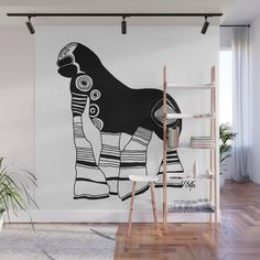 With our Wall Murals, you can cover an entire wall with a rad design - just line up the panels and stick them on. They're easy to peel off too, leaving no sticky residue behind. With crisp, vibrant colors and images, this stunning wall decor lets you create an amazing permanent or temporary space. Available in two floor-to-ceiling sizes.    - Size in feet: 8' Mural comes with four 2'(W) x 8'(H) panels  - Size in feet: 12' Mural comes with six 2' x 8' panels