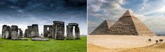 Ley lines are said to connect sites such as Stonehenge and the Great Pyramids of Egypt.