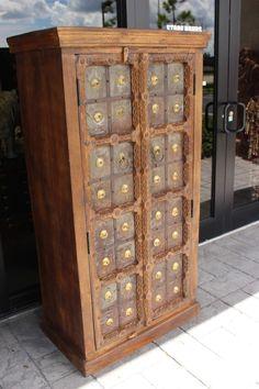Best Rustic Decor Vintage Bohemian Cabinets Antique Armoire 640 x 480