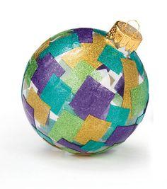 Fun retro glittery ornament! #fabulouslyfestive