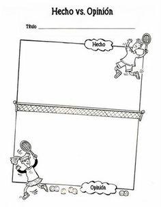 Recursos para maestros de español: Hecho vs. Opinión