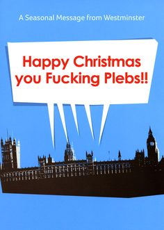 Rude Christmas Cards - A Seasonal Message From Westminster