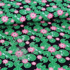 Stoffonkel Waterlily Jersey fabric organic cotton elastane Listing is for length, multiple quantities will be supplied as a continuous length where possible. Water Lilies, Plant Leaves, Marvel, Organic, Quilts, Blanket, Plants, Fabric, Shop