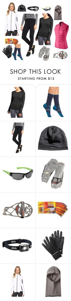 Winter running must haves by thealmostproject on Polyvore featuring Athleta, Asics, Smartwool, Cuddl Duds, SunCloud Polarized Optics, Yaktrax, Petzl and NIKE