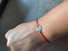 """Armband handmade Kleiner 925er Silber Klee oder der """"Glückliche"""""""