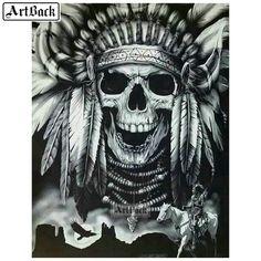 Indian Chief Tattoo, Indian Headdress Tattoo, Indian Skull Tattoos, Native American Tattoos, Native Tattoos, Tattoo Caveira, Indian Tattoo Design, Skull Tattoo Flowers, Western Saloon