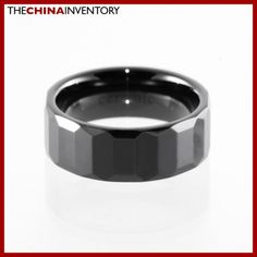 8MM SIZE 12 CERAMIC COMFORT FIT WEDDING BAND RING R1409