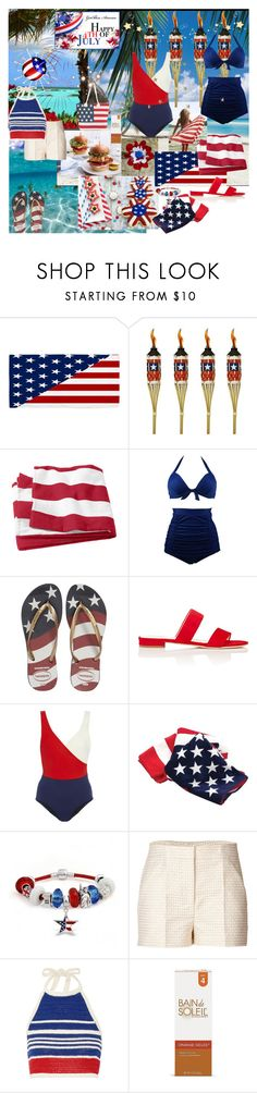 """BEACH For The 4th"" by kalenalexis ❤ liked on Polyvore featuring Nexus, TIKI, Havaianas, Barneys New York, LUISA BECCARIA, Bling Jewelry, M Missoni and Vika Gazinskaya"