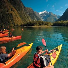 Take in the views from above, below and on the waters of with this great self drive tour option. The Cruise and Kayak tour is the best way to slow down and see all that Milford has to offer. Queenstown Accommodation, Aspen Hotel, Saint Joseph School, Alpine Lodge, Milford Sound, South Island, Lake View, Kayaking, Kayaks